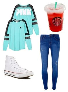 """Chill Outfit"" by sa-sarah on Polyvore featuring beauty, Victoria's Secret, Dorothy Perkins and Converse"