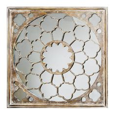 Silver Fretwork Mirror Home Accessories by Graham and Brown