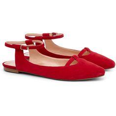 Sole Society Enji slingback flat ($60) ❤ liked on Polyvore featuring shoes, flats, beet, t bar flats, sling back flat shoes, flat pumps, sling back flats and slingback shoes