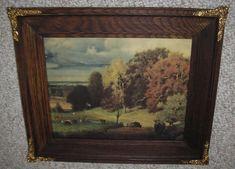 Old Frames, Antique Frames, Antique Prints, Craftsman Frames, Oak Picture Frames, Glass Replacement, Art Deco Period, Old Art, Carved Wood