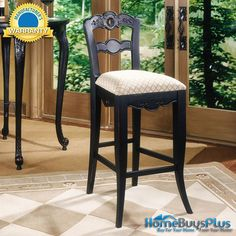 "Powell Furniture 30"" seat Hills of Provence Antique Black Bar Stool. $193.00"