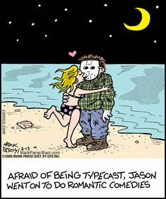 Horror movie funnies.