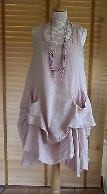 Fantastic Lagenlook Parachute Style Linen Dress Quirky Pocket Detail RRP £59 | eBay