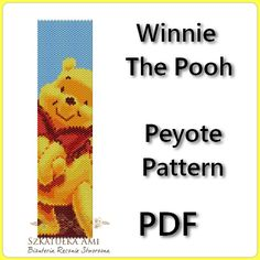 Winnie The Pooh Peyote Pattern Beading - Tutorial PDF - instant download