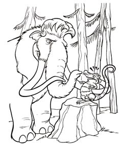 42 Ice Age printable coloring pages for kids. Find on coloring-book thousands of coloring pages. Free Printable Coloring Pages, Coloring Book Pages, Coloring Sheets, Dreamworks, Disney Printables, Animation, Ice Age, Coloring Pages For Kids, Disney Art