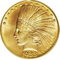 1933 Indian Head Ten Dollar Exact Replica by DonnasWishingWell on Etsy Gold Eagle Coins, Gold Coins, Indian Head, Indian Art, Secret Compartment Box, Queen Victoria Family Tree, Gold American Eagle, Coins Worth Money, Coin Worth