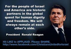 Obama is backtracking on supporting Israel and showed little respect for Netanyahu.   イスラエルとアメリカは、世界全土に人間の尊厳と自由を達成されるという課題の追求において歴史的なパートナーとなっている。両国はこれからもずっとお互いに寄り添っていきます。ーー ロナルド レーガン アメリカ大統領