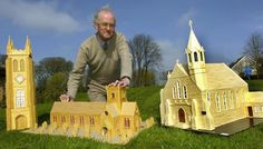 Jim Miller, a retired banker has built more than 70 exact replica churches out of matchsticks.