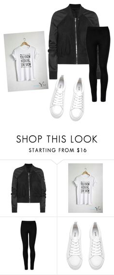 """Lazy days outfit"" by denisanovakova ❤ liked on Polyvore featuring Rick Owens, Wolford and H&M"
