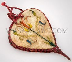 17th century English bellows purse in embroidered silk and satin on silk. At 3.25-inches and of such fragile materials it was obviously not meant to be used for practical purposes.