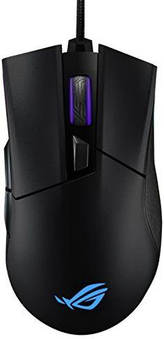 ASUS ROG Gladius II Origin – Ratón óptico (optimizado para Juegos FPS, conectividad por Cable, Iluminación Aura Sync, 12000 dpi), Negro Usb, Asus Rog, Cable, Computer Mouse, Electronics, Games, Black, Keyboard, Cabo