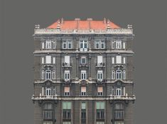 Architectural Symmetry of the River Danube Banks  Hungarian photographer Zsolt Hlinka previously featured is behind a new collection called Urban Symmetry. In this new project he documents the atypical architecture of banks of the river Danube. By putting photographs on plain color backgrounds artist shows the fact that these buildings seem to be part by a symmetry axis.            #xemtvhay