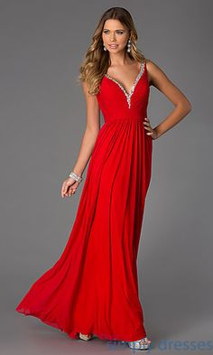 V-Neck Long Sleeveless Prom Gown JVN by Jovani  at SimplyDresses.com