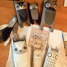 Fabric owls. Would love to make these.