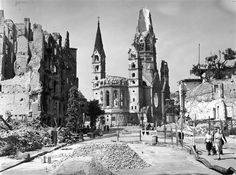 Fred Ramage / Keystone Features via Getty Images, fileThe ruins of the famous Tauenzien Strasse and the Kaiser Wilhelm Memorial Church in Berlin on July 20, 1945, following Hitler's defeat in World War II.