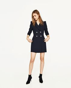 Image 2 of BLAZER DRESS WITH PEARL BUTTONS from Zara