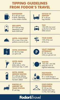 Tipping guidelines - #Tipping, #Tips