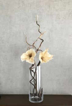 Felt branches and flowers