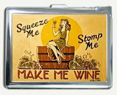 Vintage Wine Ad sign Cigarette Case Lighter Wallet Card Holder by InfiniteArt. $10.99. Case Dimension: /Height: 10.6 cm. /Width: 8.2 cm.