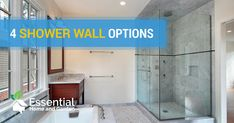 Are you renovating your bathroom and hoping for something a little more exciting than the same old, same old? Shower walls need to be water-tight, stylish, and easy to clean. If you're considering your shower wall options, don't decide until you've weighed up all of the possibilities.