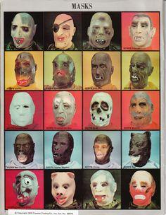 70's Halloween masks