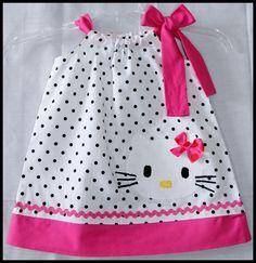 hello kitty toddler birthday | Hello Kitty, dress,girl,applique,pillowcase style,baby,infant,toddler ...