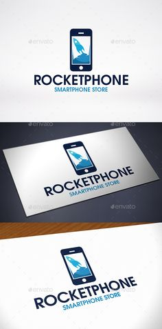 Rocket Phone Logo Template
