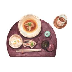 No.70 - First Kaiseki experience in Atami. Courtesy of Hoshino Resort. Illustration by Justine Wong of Patterns and PortraitsFind me on instagram / store / portfolio