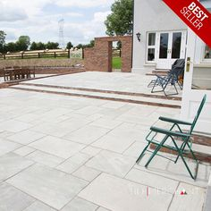 Kandla Grey Sandstone is a fantastic natural option to boost your garden or patio. The Kandla Grey paving pack contains mixed sizes, hand-calibrated and in soft shades of grey. It is a paving option for those who value contemporary styling without compromising on character. The surface finish is riven as a result of the natural block splitting along its line of cleavage, which creates stunning natural texture. Grey Paving, Paving Stone Patio, Paving Slabs, Paving Stones, Stone Patios, Outdoor Tiles, Outdoor Decor, Garden Room Extensions, Stone Cladding