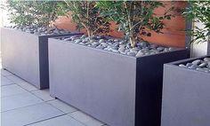 Adezz Aluminium Garden Planter. Bespoke option Florida Trough Grey