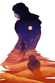 The Force Awakens by H0lyhandgrenade  Fan Art / Digital Art / Painting & Airbrushing / Movies & TV #starwars #kylo #rey