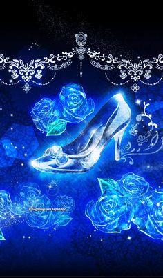Theme of cinderella shoes. Cinderella Wallpaper, Disney Phone Wallpaper, Neon Wallpaper, Blue Wallpapers, Cellphone Wallpaper, Flower Wallpaper, Wallpaper Backgrounds, Cinderella Theme, Beautiful Rose Flowers