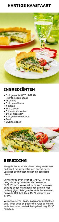 Inspiratie voor in de keuken - Hartige kaastaart | #IKEA #IKEAnl #koken #gerecht…