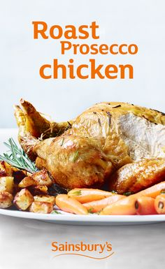 If you love roast chicken and Prosecco, put the oven on to heat and pop the cork. This recipe is THE ONE. Healthy Food, Healthy Recipes, Roast Dinner, Yummy Chicken Recipes, Sainsburys, Roast Chicken, Prosecco, Main Meals, Cork
