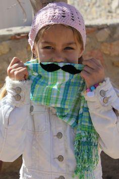 Mustache Scarf! @Jenna Wilcox