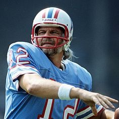 Kenny Stabler Houston Oilers but was more known for being a Raider. Came to Houston for a short while, the called him The Snake.