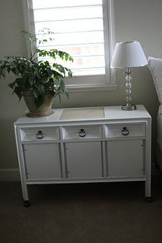 How to transform a thrift shop buffet into a cool side table/night stand, etc