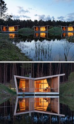 Butterfly Roofs Give This Cluster Of Holiday Homes A Modern Look