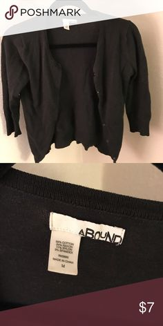 Black sweater Black sweater with a cropped sleeve. Brand is abound. Size medium abound Sweaters Cardigans