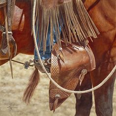 "Buckaroo Bling by Ann Hanson Oil ~ 16"" x 16"""