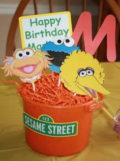 Decorations at a Sesame Street Party #sesamestreet #party
