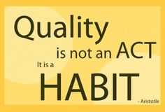 Quality is not an act, it is a habit. Words Quotes, Love Quotes, Self Value, Greek Culture, Greek Words, Get Well, Just Me, Quote Of The Day, Affirmations