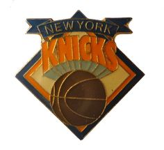 """NEW YORK KNiCKS Logo Basketball vintage enamel pin badge ny NBA by VintageTrafficUSA  26.00 USD  A vintage Knicks pin! Excellent condition. Measures: approx 1"""" These rare pins are proven to win you friends and influence people! Add inspiration to your handbag tie jacket backpack hat or wall. 20 years old hard to find vintage high-quality cloisonne lapel/pin. Beautiful die struck metal pin with colored glass enamel filling. -------------------------------------------- SECOND ITEM SHIPS FREE…"""