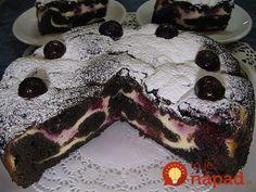 Zmiešaný čokoládovo-tvarohový koláč s čerešňami: Stačí len upiecť v okrúhlej forme a máte dezert, ktorý tromfne aj drahú tortu!
