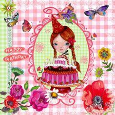 Verjaardagskaarten - Jarig BB Bloemen Vlinders Cartita Design