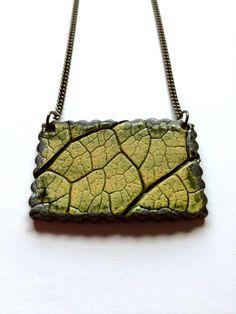 Large Northwest Rectangle Ceramic Leaf by AlainaSheenDesigns, $34.00 #Jewelry #LeafNecklace