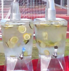 It might officially be fall, but this SoCal heat is still calling for refreshments! Our lemon and cucumber infused water will hit the spot with all of your guests at any outdoor event! #refreshments #heatwave