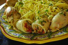 Calamari Ripieni -- A delicious and easy recipe from David Rocco!