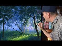 ▶ How to Paint Fog Sunlight With Acrylics Painting lesson class Complete video - YouTube