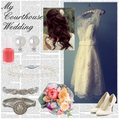My Vintage Courthouse Wedding, created by beingclassyislovely on Polyvore